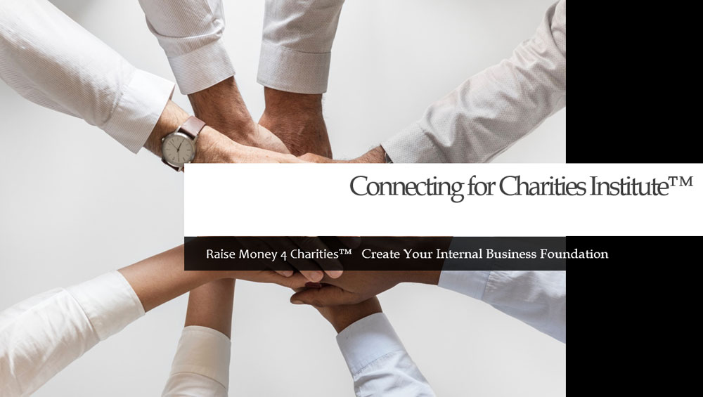 "Photo of people with hands connecting in center of a circle with ""Create Your Internal Business Foundation"" in a banner over the photo"